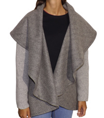 Cape Nómada manches tricotées